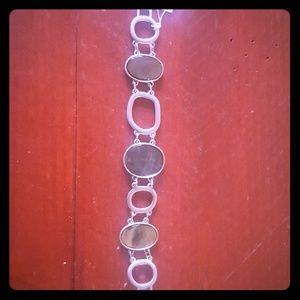lia sophia aqua blue mother of pearl bracelet